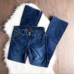 Hudson Midrise Signature Bootcut Blue Jeans